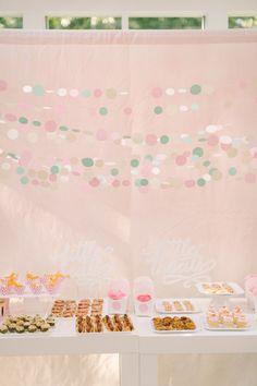 DIY Confetti Backdrop |   Read more - http://www.stylemepretty.com/living/2013/09/05/diy-confetti-backdrop/