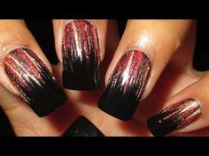 waterfal nail, nail art tutorials, nail arts, waterfall nail art