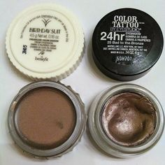 Maybelline Color Tattoo Bad to the Bronze- Benefit Creaseless Cream Shadow Birthday Suit Dupe!