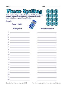 Phone spelling activity to use with any list.