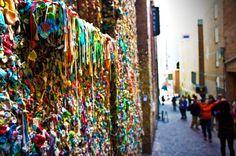favorit place, seattle gum wall, post alley, seattl gum, washington visit, seattl trip, seattl restaur, alley gum, seattle washington gum wall