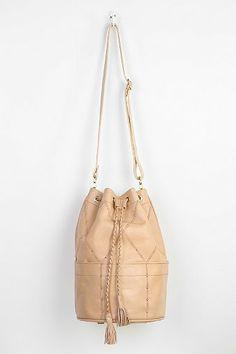 SANCIA Valencia Studded Leather Bucket Bag