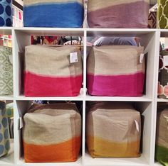 color palettes, fall market, poufs, high point, dip dyed, diy, dips, dipdy pouf, bright colors