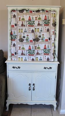 Curtains for a hutch.