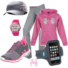 pink and grey, created by fluffof5 on Polyvore