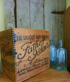 Vintage Wood Box  / Antique Wooden Box / by TheWellSeasonedNest, $35.00