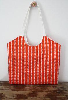 Tangerine market bag beach bag, tote bag, market bag