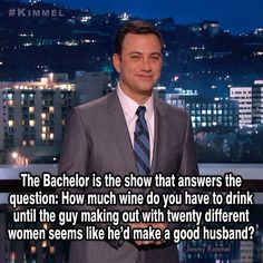 The bachelor... I'll never understand why people watch this show
