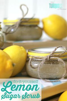How to Make Lemon Sugar Scrub | TheTurquoiseHome.com