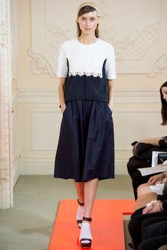 Look 17 Eudon Choi Spring 2014 #NYFW #lace #navy