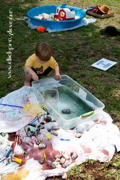 messy playdate idea - All for the Boys