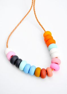 This is a color study necklace but I remember the candy necklace growing up :)