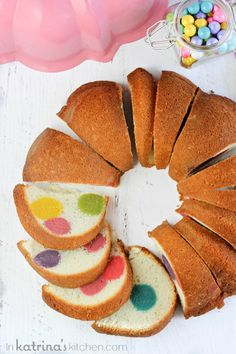 Surprise Inside Dotty Cake tutorial.