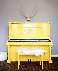 Yellow piano!!!