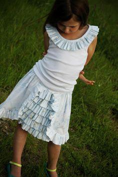 layered ruffled skirt tutorial