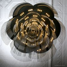 /// willowlamp :: LED chandelier - willowlamp - rose chandelier