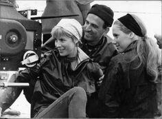 Ingmar Bergman, Bibi Andersson, and Liv Ullmann on the set of Persona (1966)