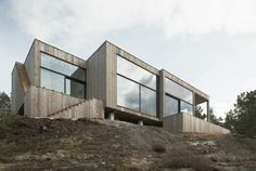 Petra Gipp Arkitektur and Katarina Lundeberg designed this house on an island near Stockholm, Sweden.