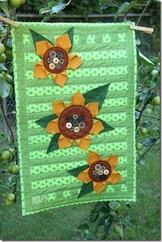 Sunflower Tablerunner Tutorial