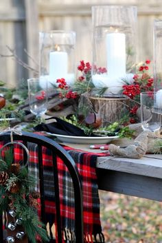 Christmas Tablescape traditional dining room