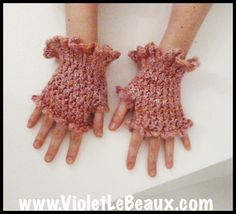 kids lace fingerless gloves | Fingerless Gloves Knitting Pattern
