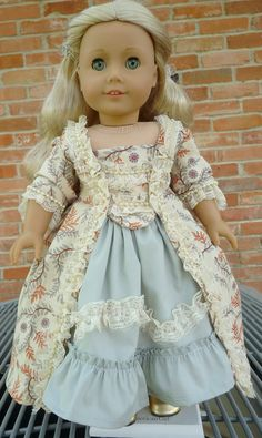 18 Doll Clothes Historical Sacque Back French by Designed4Dolls