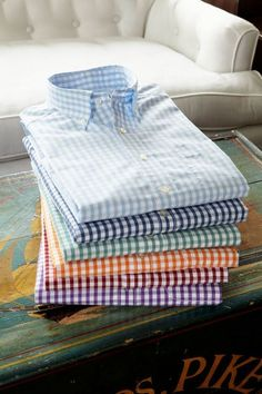 Men's gingham shirts