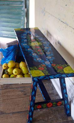 Painted Bench - Plümo Ltd