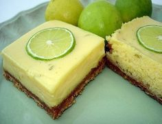 Lime Bars (3 Points+)  #WeightWatchers #HealthyRecipes #LimeBars