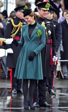 Kate Middleton and Prince William at a St. Patricks Day Parade on March 17, 2013