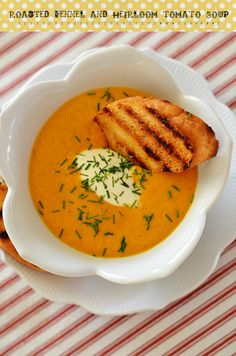 Roasted Fennel and Heirloom Tomato Soup