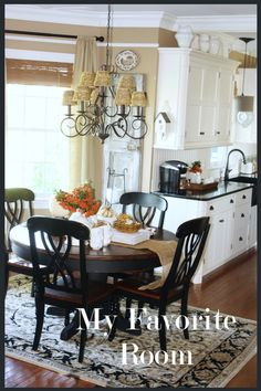 LOVE!!! FEATURED AT SAVVY SOUTHERN STYLE....Kitchen/eating area combo small. Create casual space in kitchen and get the most of 1 space...use other room as formal dining area