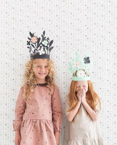 DIY cut paper crowns - so pretty