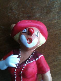 Clown Collectable Figurine by Crown COR Handpainted by thsandman, $20.00