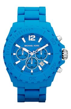 Michael Kors 'Drake' Chronograph Silicone Watch available at Nordstrom