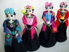 Frida Kahlo Catrinas de papel mache. | Flickr - Photo Sharing!