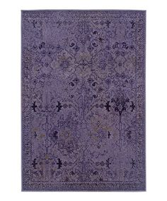 Take a look at this Purple Ornate Renaissance Rug by Oriental Weavers on #zulily today!