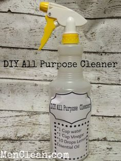 Homemade All Purpose Cleaner Recipe #menclean #cleaning