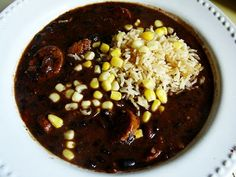 Vegan version of Pressure Cooker Cuban Black Bean Soup (with spicy vegan sausage option)  (adapted from a recipe in the instruction booklet that came with the cuisinart electric 6-qt. pressure cooker)