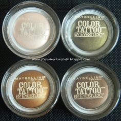 Swatches of the NEW Maybelline Limited Edition Color Tattoos & a review!