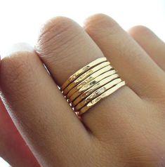 Thin stacking rings.