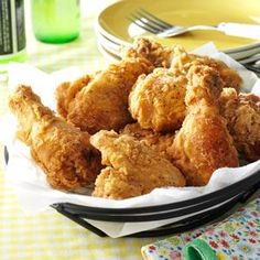 Crispy Fried Chicken Recipe from Taste of Home -- shared by Jeanne Schnitzler of Lima, Montana