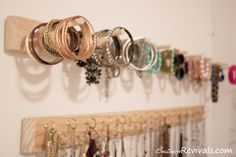 DIY easy jewelry organizers. I promise myself I will organize my baubles in the new house and not just keep them in shoe boxes!