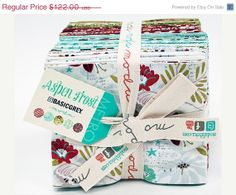 SUMMER SALE ASPEN Frost by Basic Grey for Moda by FabricSweets, $103.70