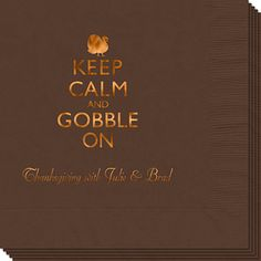 Keep Calm and Gobble On Napkins