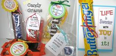 $3.49 CANDY GRAMS!- Adorable candy themed gift tags for all occasions - some personalized! | Sassy Steals