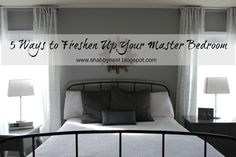 The Shabby Nest: 5 Ways to Freshen Up Your Master Bedroom