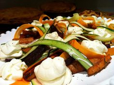 petite kitchen: winter root vegetable salad with buffalo cheese mousse