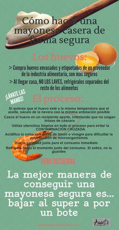 Cómo hacer mayonesa casera de forma segura #salud #prevencion #cocina