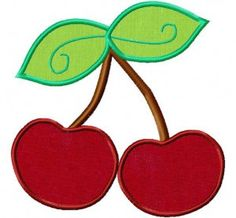 Cherries Applique 6 Inch